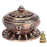 Kitchnexus incenso Censer bruciatore del Tibet Lotus lega di rame per bastone cone Coil Incenses Copper Red