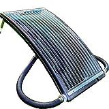 Hecht Solar Poolheizung 305810 Sonnenkollektor (2 bar, 14 Liter Fassungsvermögen, 110x65cm, 10.000l/h)