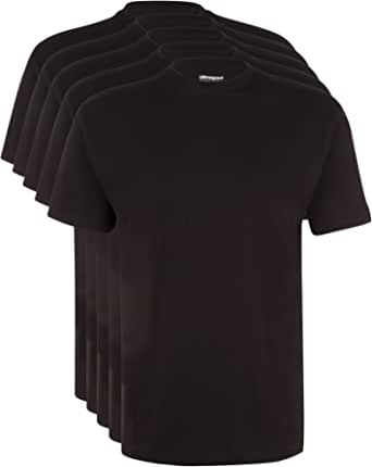 Ultrasport Men's T-Shirt for Sport and Leisure, Round Neckline, Pack of 5