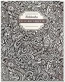 DÉKOKIND Zeichenbuch | DIN A4, 122 Seiten, Register, Vintage Softcover | Dickes Blanko-Notizbuch zum Selbstgestalten | Motiv: Doodle Pattern