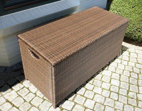 Consul Garden Geflecht-Kissenbox, Mocca, 125x57x64