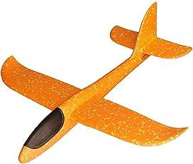 MAKFORT Kinder Flugzeug Spielzeug Outdoor Wurf Segelflugzeug Glider ca.38cm Orange