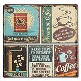 KING DO WAY 'Coffee' Rétro Murale Plaque Décorative Enseigne Métal Décor Bar Café Garage Metal Sign-30cmX30cm