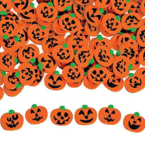 Elfen und Zwerge 50 x Kürbis Halloween Mini Radierer als Halloweendekoration Streudeko oder als Mitgebsel