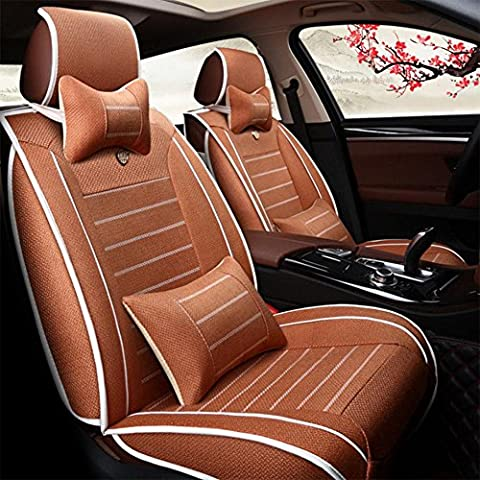 Brand New styling Luxury Leather Car Seat Covers Front & Rear Complete Set for Universal 5 Seat Car Four Season , orange