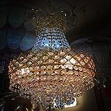 #9: Sanleen Enterprises Modern Home Decorative Crystal Chandelier Lightning Fixture Ceiling Light - Small Size