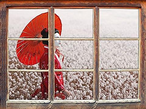 Geisha Idées De Maquillage - Geisha sur le terrain Fenêtre en 3D