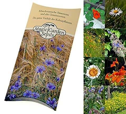 Seed kit: 'Edible flowers', 4 aromatic varieties to add beauty and flavour to salads, finger food platters and puddings, in a lovely Magic Garden Seeds gift box