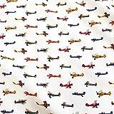 Stoff Baumwollstoff Meterware Flugzeuge Popeline