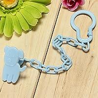 Bluelover Bambino neonato ciuccio succhietto catena capezzolo Clip titolare giocattolo regalo - blu - Clip Flute