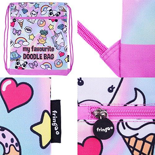Fringoo Cartable, Holo Doodles (Multicolore) - 64-DWR7-7MIL