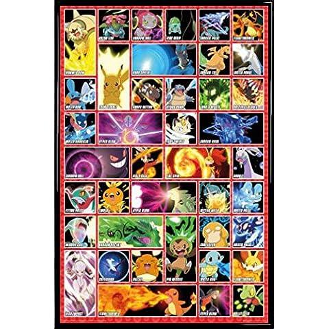 Pokemon Póster con Marco (Plástico) - Moves (91 x 61cm)