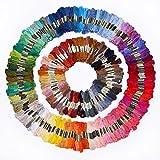 *Versand aus Deutschland* 300 Docken Sticktwist Stickgarn 8m 6-fädig Multicolor farblich bunt Basteln Megaset Stickerei Kreuzstich