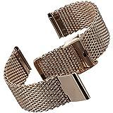 Cinturino orologio Geckota® Acciaio inossidabile Maglia milanese IP Oro Rosa, 20mm