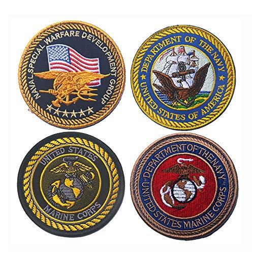 Marine Corps Applique (DIY Kleidung Patche Sticker 10 STÜCKE US Marine Corps DIY Applique Bestickt Nähen Eisen Auf Flecken Für Jeans Jacke Kleidung Handtasche Schuhe Caps ( Color : Multi-colored , Size : Free size ))