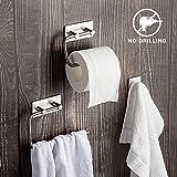 Set de accesorios de baño de 3 piezas: Toallero, Portarrollo de papel...