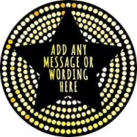 Star Gold Sticker Labels Personalised Seals Ideal for Party Bags, Sweet Cones, Favours, Jars, Presentations Gift Boxes, Bottles, Crafts