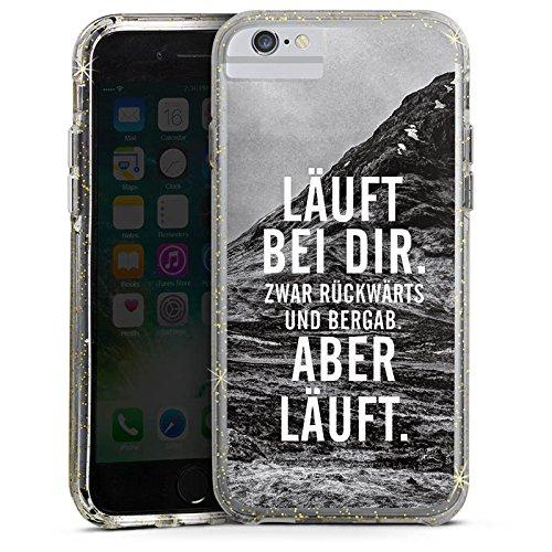 Apple iPhone 7 Bumper Hülle Bumper Case Glitzer Hülle Laeuft Bei Dir Phrases Sprüche Bumper Case Glitzer gold