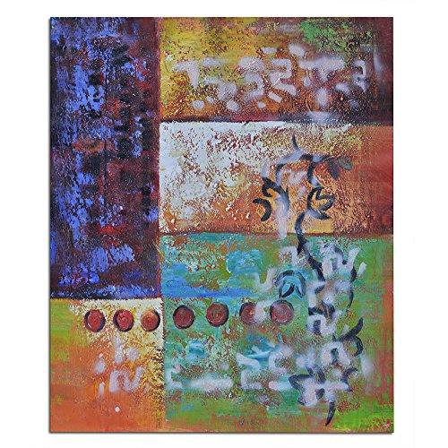 Raybre Art® 100% Pintada a Mano sobre Lienzo 50 x 60 cm - Pinturas de óleo Cuadros Modernos - Abstractos Flores Colores para Dibujos Arte Pared Decoración Hogar Sala Cocina Dormitorio, Sin marco