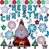 HEALIFTY Palloncini di Natale per le forniture di Natale Decorazioni fai da te Foto Puntelli Casa Decorazioni per feste (blu)