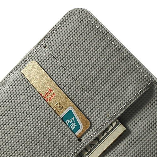 XAiOX® Nokia Lumia 635 630 Zebra Wallet Handytasche Handyhülle Flip Case Book Style schwarz weiss grau
