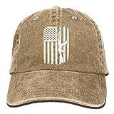 Comfort&products AK-47 Kalashnikov USA Flag Adjustable Golfer Cotton Washed Denim Cap...