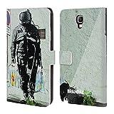 Head Case Designs Offizielle Brandalised Raumfahrer Straßengraffiti Brieftasche Handyhülle aus Leder für Samsung Galaxy Note 3 Neo
