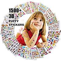 Pegatinas para niños 1500+, 20hojas diferentes, 3d Puffy Pegatinas, Scrapbooking, Bullet revistas, pegatinas para adultos, incluidos los animales, peces, estrellas, pasteles, plantas, y toneladas más