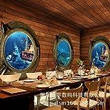 GOUZI Große Wandbilder 3D stereoskopische Tapete Piraten Restaurant Tapete ktv bar groß Für Schlafzimmer Wohnzimmer Hintergrund Wand Badezimmer Studie Barber Shop