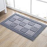 bd jfew The absorbent pad in microfiber anti-slip mat of non-slip bath house bathroom gray doormat foot of door, 45*70cm