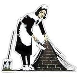 Banksy Maid Vegen Ontwerp | Wall Art Graffiti Vinyl Sticker | Urban Art Venster, auto, Laptop Decal (Medium - 10x11cm)