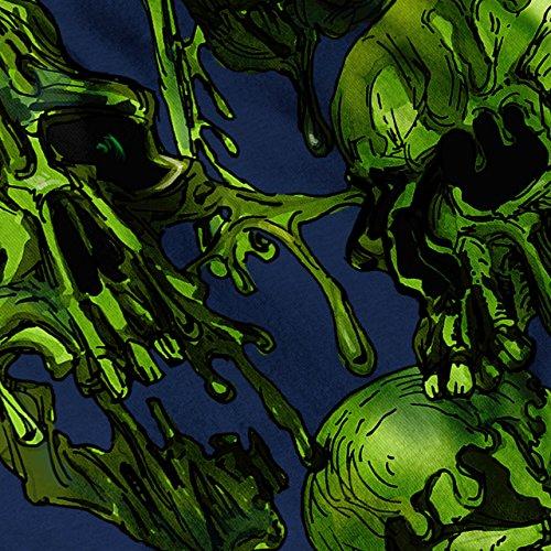 Schleim Dunkel Skelett Schädel Ausgeflippt Kopfhaut Damen Schwarz S-2XL Muskelshirt | Wellcoda Marine