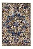 Catania 6906 181 003 mehrfarbig ein Markenteppich von Astra in 4 Grössen, 9 bunte Designs, Brücke, Teppich, Läufer. Elegant, modernes orientalisches Muster in beige-blau, pflegeleicht, weich, antistatisch, fussbodenheizungsgeeignet(80 x 150 cm)