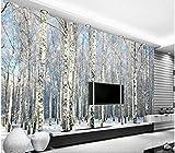 Yosot 3d Custom Any Size Foto Hintergrundbild Winter Schnee Birkenwald Kunst Wandverkleidung Schlafzimmer Wandbilder Moderne Tapete Home Decor-250Cmx175Cm