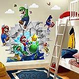 Super Marios Bros Wandtattoo Wandaufkleber Sticker 48 x 65 cm*NEU*OVP*
