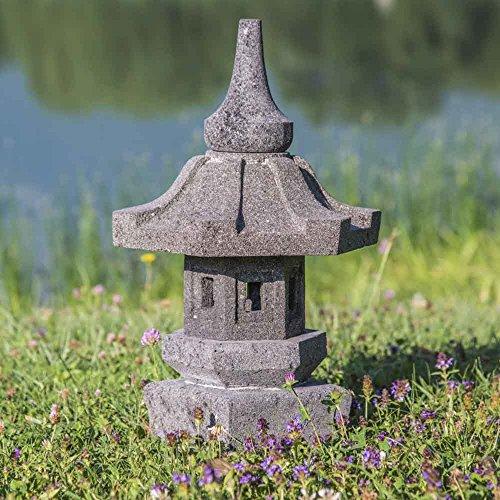 Lámpara de jardín japonés de piedra de lava 50 cm