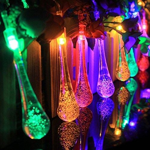 Preisvergleich Produktbild MASUNN Batteriebetriebene 3M 20LEDs Water Drop Fairy String Light für Garden Party Christmas DC 4.5 v-bunt