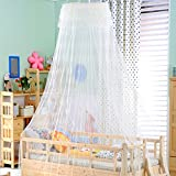 Extra large size round hoop bed canopy netting mosquito net fit crib,Twin,Full,Queen,King-A 150x200cm(59x79inch)