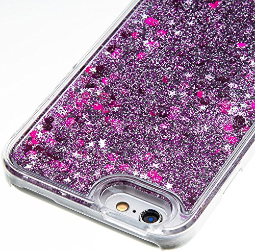 Coque Iphone 6 Silicone / Coque Iphone 6S Silicone Nnopbeclik® Paillettes Briller Style Backcover Rigide Housse pour Iphone 6 Coque Silicone / Iphone 6S Coque silicone (4.7 Pouce) Antichoc Protection  rose