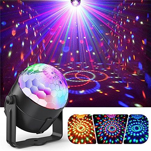 e Disco-Lichter, Die Kugel-Lichter 3W RGB LED Stadiums-Lichter Für Weihnachtshaus KTV-Weihnachtshochzeits-Erscheinen-Kneipe Drehen ()