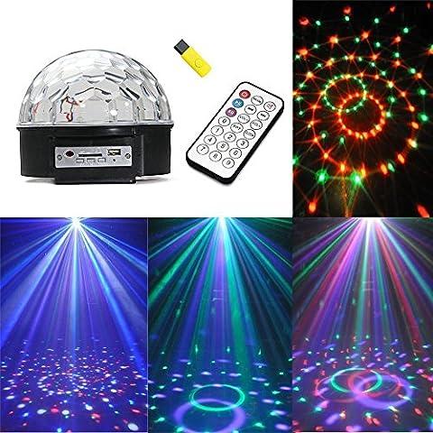 K-Bright Discokugel Licht,Kristall Magic Ball RGB Disco DJ Lichteffekt MP3