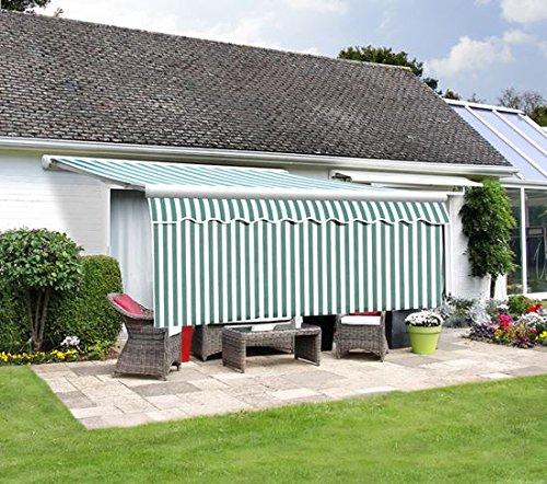 Primrose Lambrequin Enroulable Rayures Vertes et Blanches pour Store 3m (Retombée 1m)
