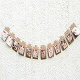 ODN Baby 1st Geburtstag Bunting Girlande Banner 1-12 Monat Foto Prop Rahmen Party Dekor