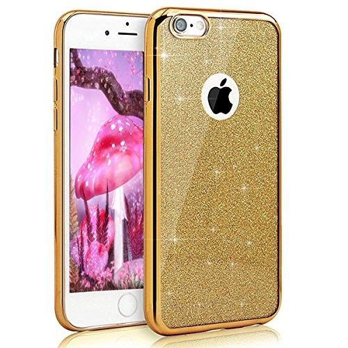 iPhone 7 Hülle Silikon,iPhone 7 Hülle Glitzer,iPhone 7 Crystal TPU Bumper Case Soft Transparent Silikon Gel Schutzhülle Cover,iPhone 7 Hülle (4.7 Zoll) Cristall,EMAXELERS iPhone 7 Bling Cristall Diama S TPU 3