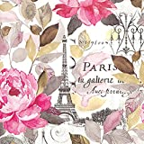 Ideal Home Range 20Count Jardin Paris de 3capas servilletas de papel, multicolor (comida 33x 33cm)