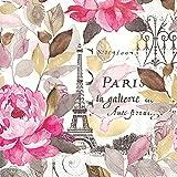 Ideal Home Range - 20 Servilletas de papel impreso con 3 capas, 33 x 33 cm, multicolor con tema floral Jardin Paris