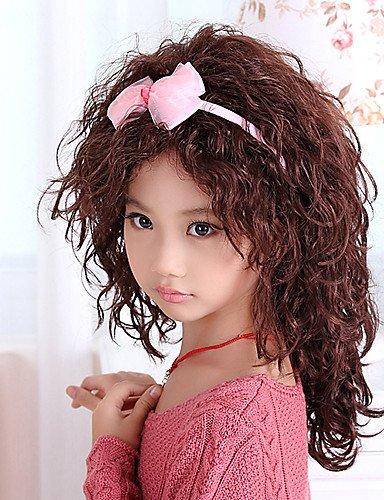 Fashion wigstyle kappenlosem Stilvolle Medium asymmetrisch Wave Kinder Perücke (braun) auf Verkauf Billig