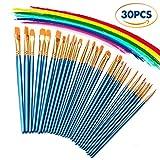 Best Paint Brush Sets - 3 Pack Paint Brush Set, 30 pcs Nylon Review