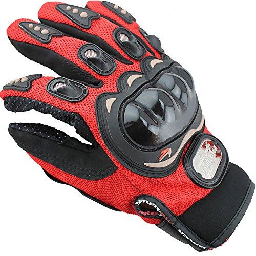 Motorradhandschuhe Atmungsaktiv Vollfinger handschuhe Motocross Handschuhe Thermo Kohlefaser Winddicht für Herren und Damen Fahrrad MTB Roller Sport Mofa Racing-Hmjunboys