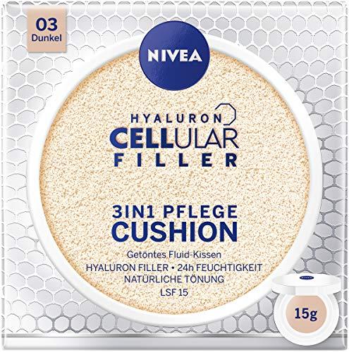 NIVEA 3in1 Anti-Age Pflege Kissen für natürliche Tönung und Feuchtigkeit, Für Dunklere Hauttypen, 15 ml -